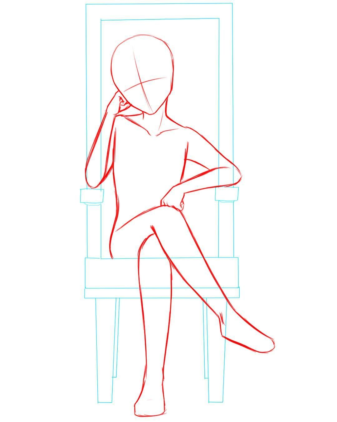 My Base For A Guy Sitting On A Chair Or A Throne Anime Animeart Animeboy Animebase Man Anime Drawings Sketches Drawing Reference Poses Art Reference Poses