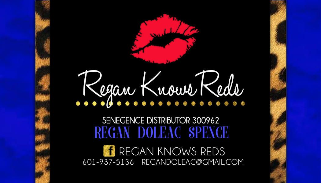 SeneGence Blue and Leopard Business Cards | Gold lips and Lips