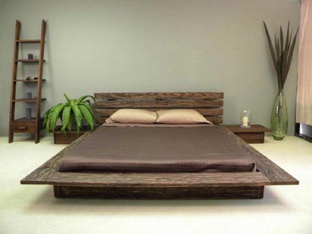 Camera Da Letto Giapponese letto in stile giapponese basso color noce | letti di design
