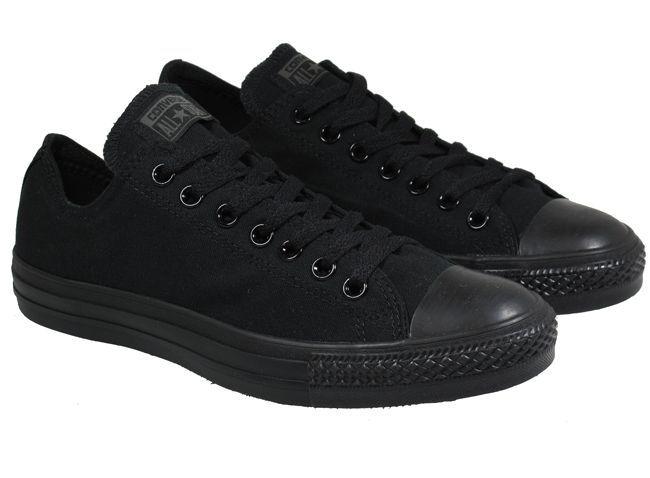 black converse mens shoes