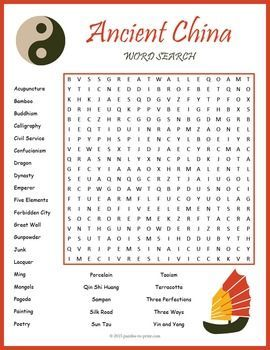 ancient china word search puzzle ancient china word search puzzles and word search. Black Bedroom Furniture Sets. Home Design Ideas