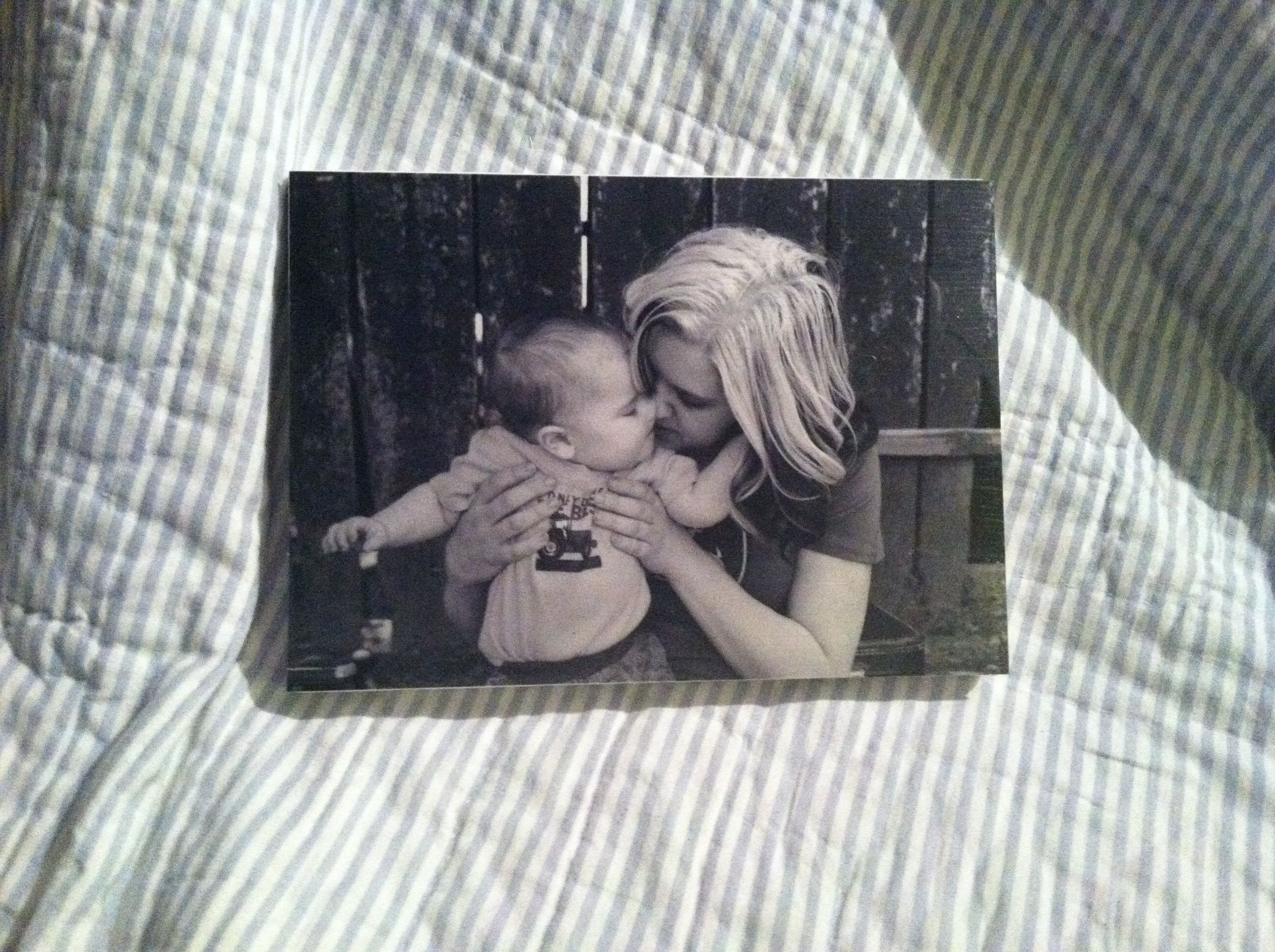 Mod podged this picture onto a canvas. Thanks JennaMichelle Photography for capturing this sweet moment!