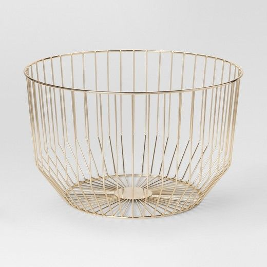 Pin By Spruced Co On Home Bedroom Gold Wire Basket Gold Home Decor Wire Baskets