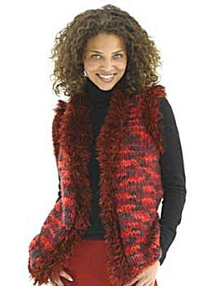 05788c8e294919 Free+Knitting+Pattern+-+Women s+Vests +Red+Hot+Vest