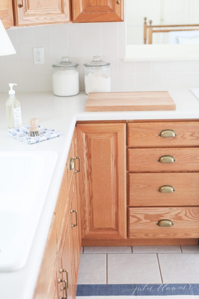 Tips And Tricks To Update Dated Oak Kitchen Cabinets Without