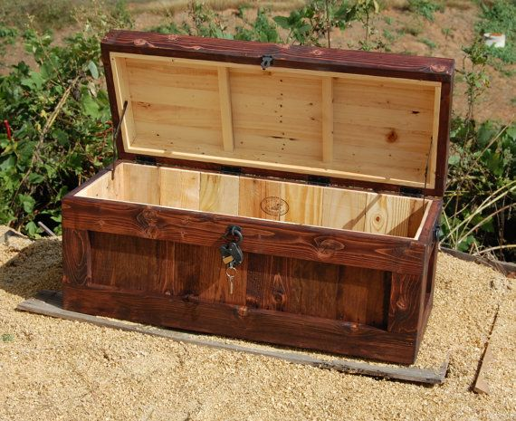 Chest With Lock Hope Chest Wooden Trunk By Looneybintradingco Wooden Trunks Chest Coffee Table Hope Chest