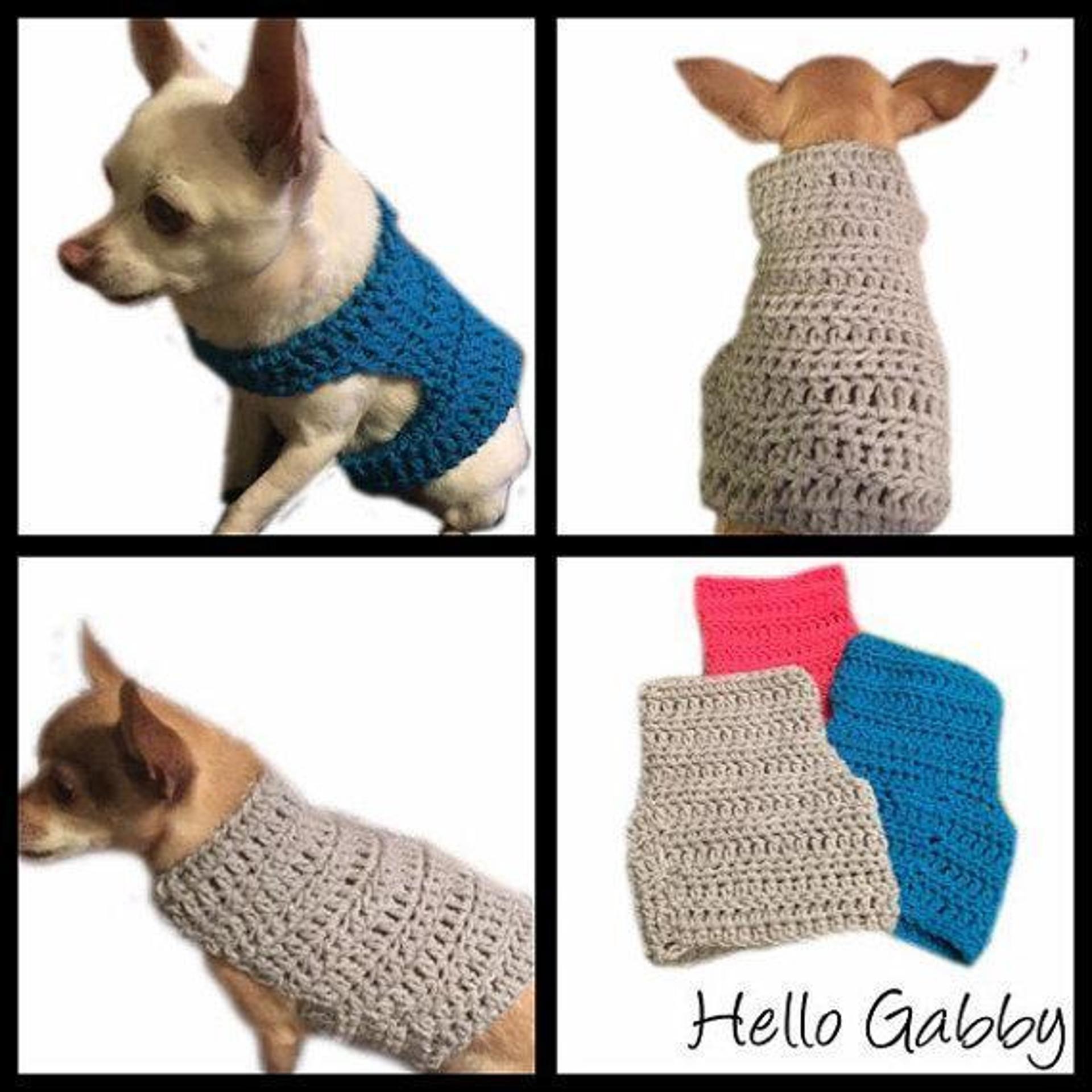 Small Dog Sweater | Crochet Patterns | Pinterest | Crochet dog ...
