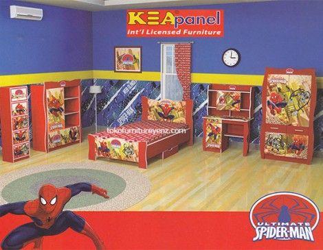 Jual Kamar Set Anak Spiderman Kea Panel | Spiderman ...