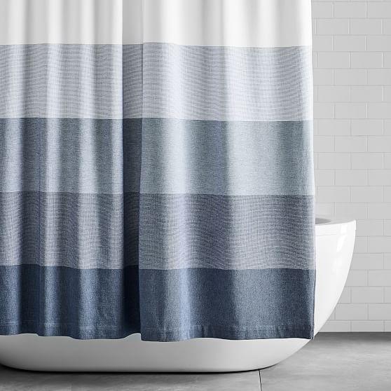 Organic Dobby Ombre Shower Curtain Indigo Ombre Shower Curtain Modern Shower Curtains Modern Shower Curtain Rings