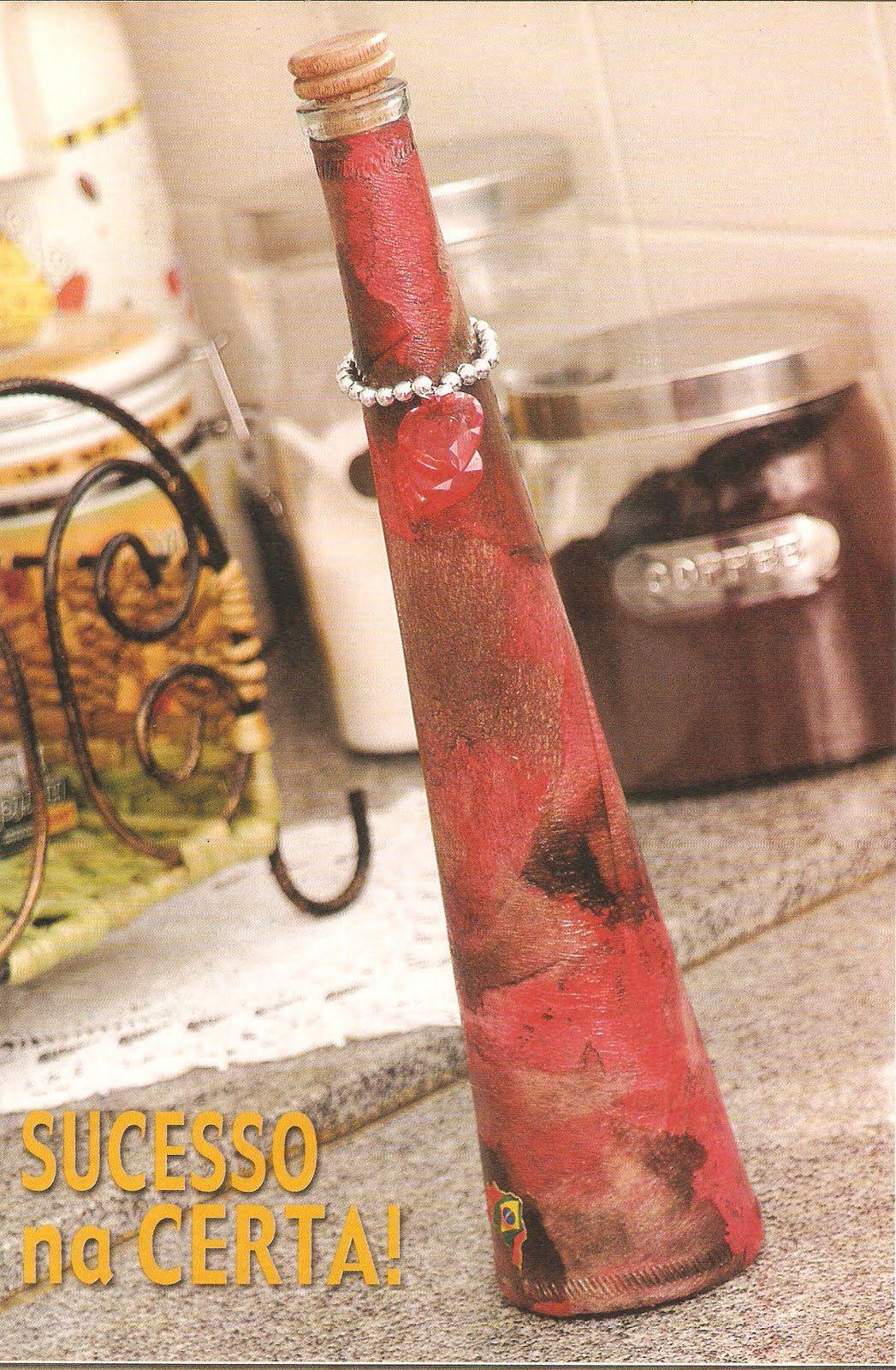 Artes C Filtros De Cafe Usados Rosely Ferraiol Garrafas Decorativas Arte Em Garrafa Garrafas Decoradas