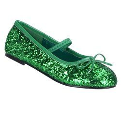 86ee6779037 girl green glitter shoe