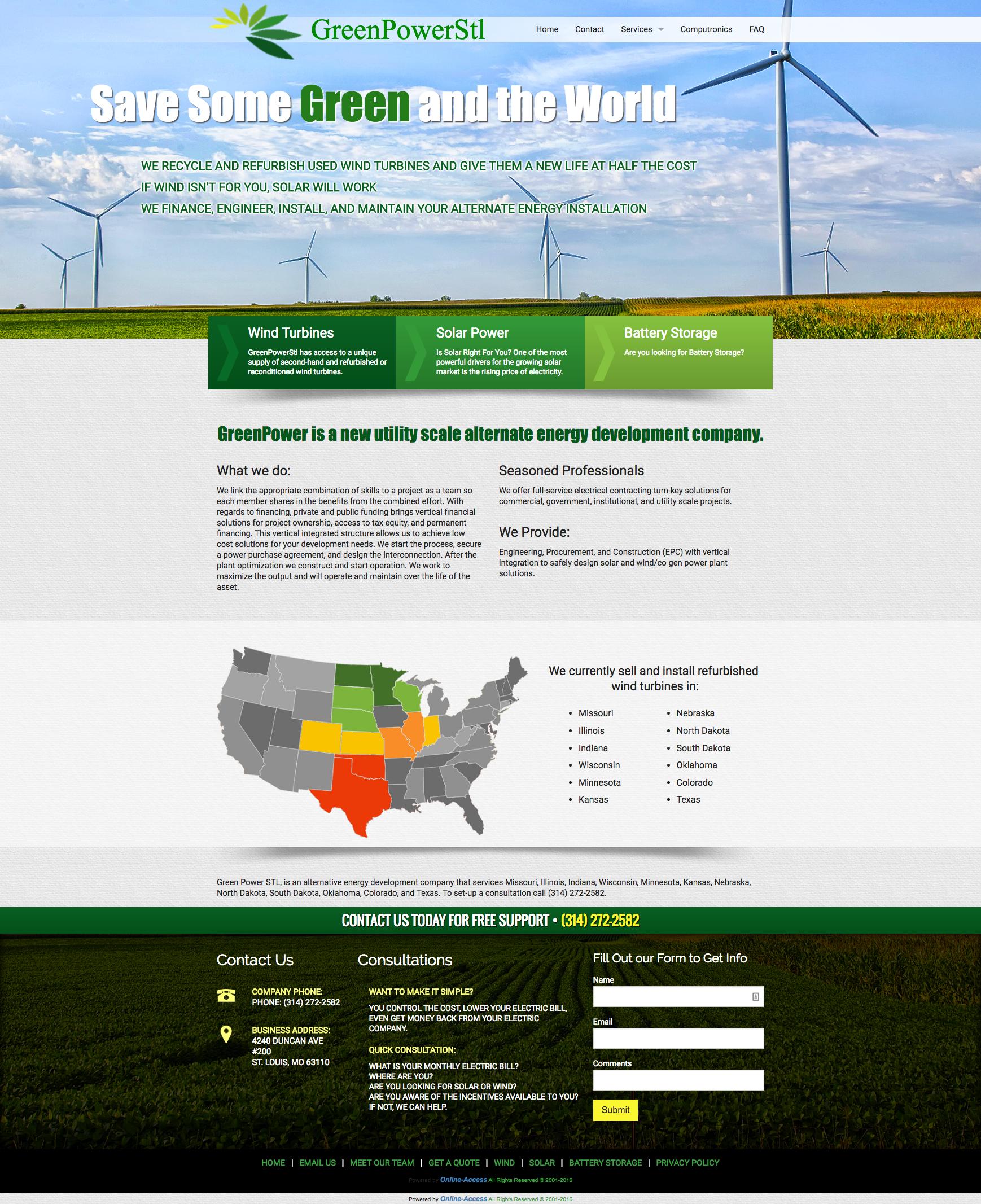 Green Power STL St. Louis, MO Wind Turbine windmill and