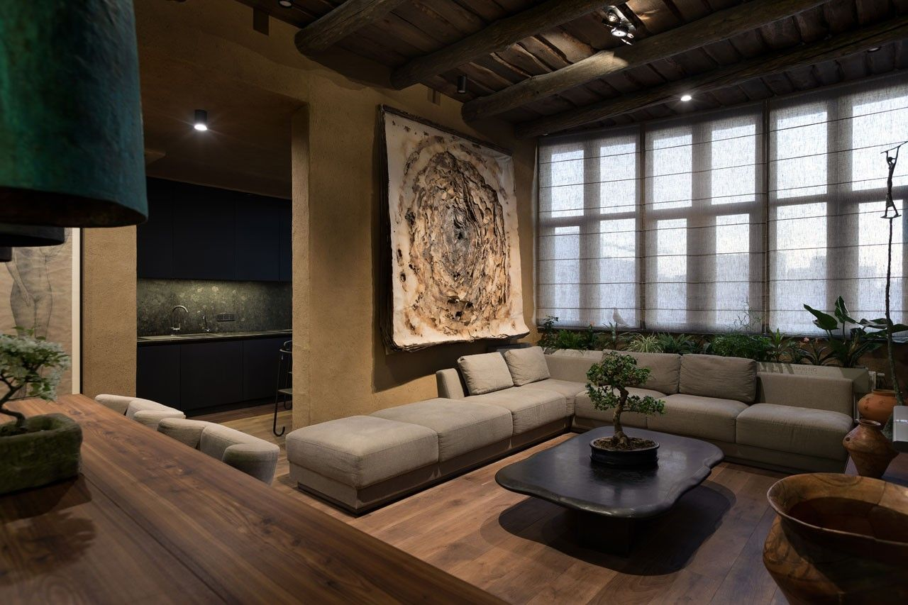 Wabi sabi apartment par l architecte et designer sergey for Appartement design japonais
