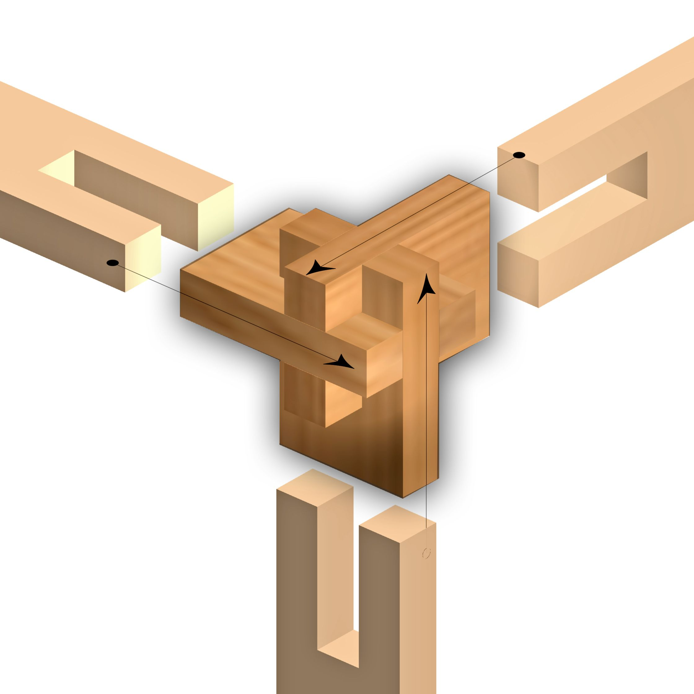 Simple but sophisticated wood assembly Icelandic Design