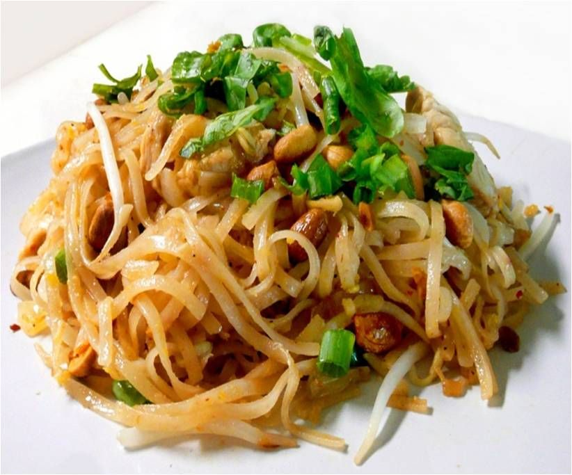 Miracle noodle chicken pad thai recipe zero calories and for Healthy chicken pad thai
