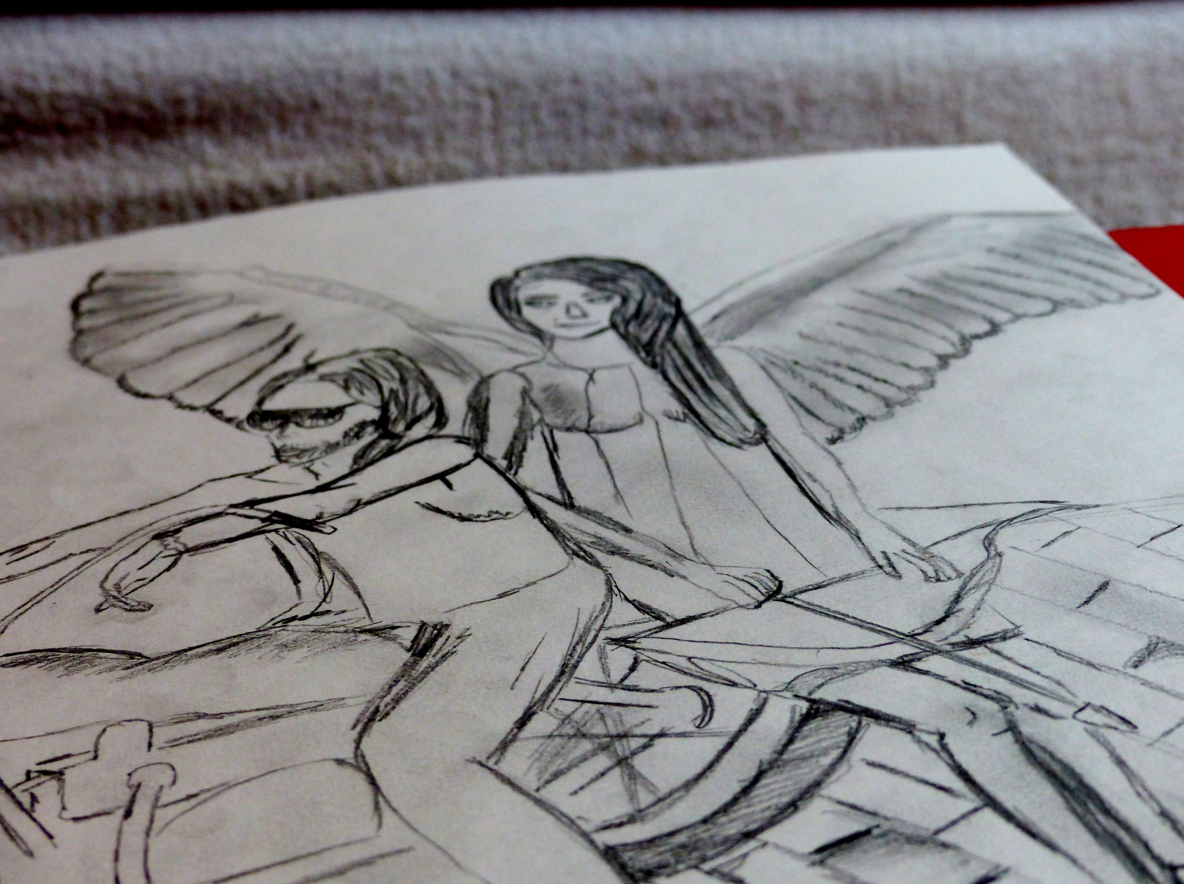 L'ange à tiré , l'amour est né .
