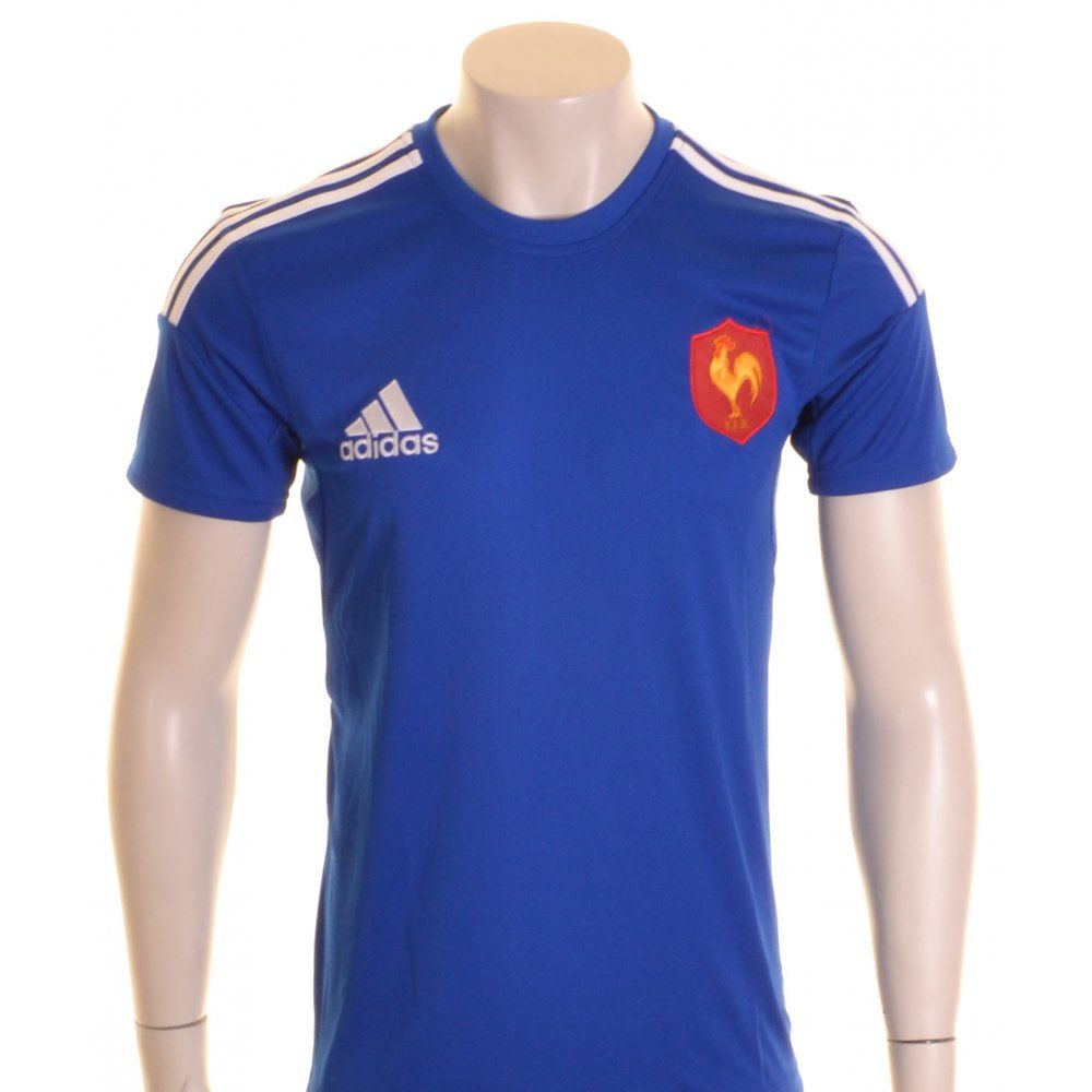 Adidas France Performance Training T-Shirt - £25.00 at ShopRugby.com #Rugby #FranceRugby