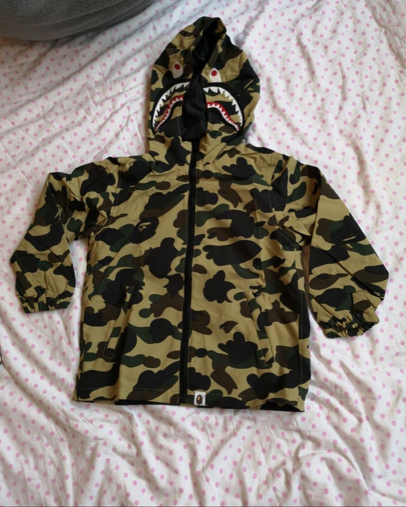076a1077983bb A Bathing Ape Bape Kids 1ST Camo Shark Hoodie Jacket Size 5-6 years 120cm  #fashion #clothing #shoes #accessories #kidsclothingshoesaccs ...
