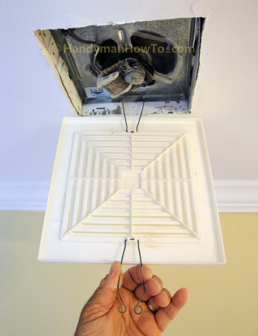 How To Replace A Bathrom Vent Fan Grille Springs