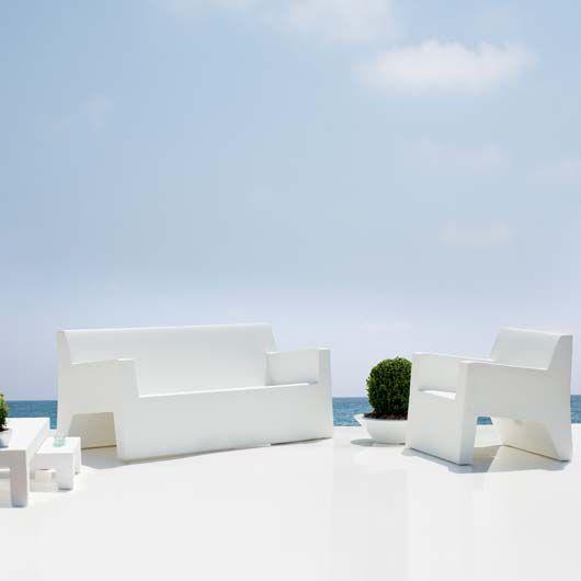 Canapé de jardin JUT Vondom - MyClubDesign | Pure White ...