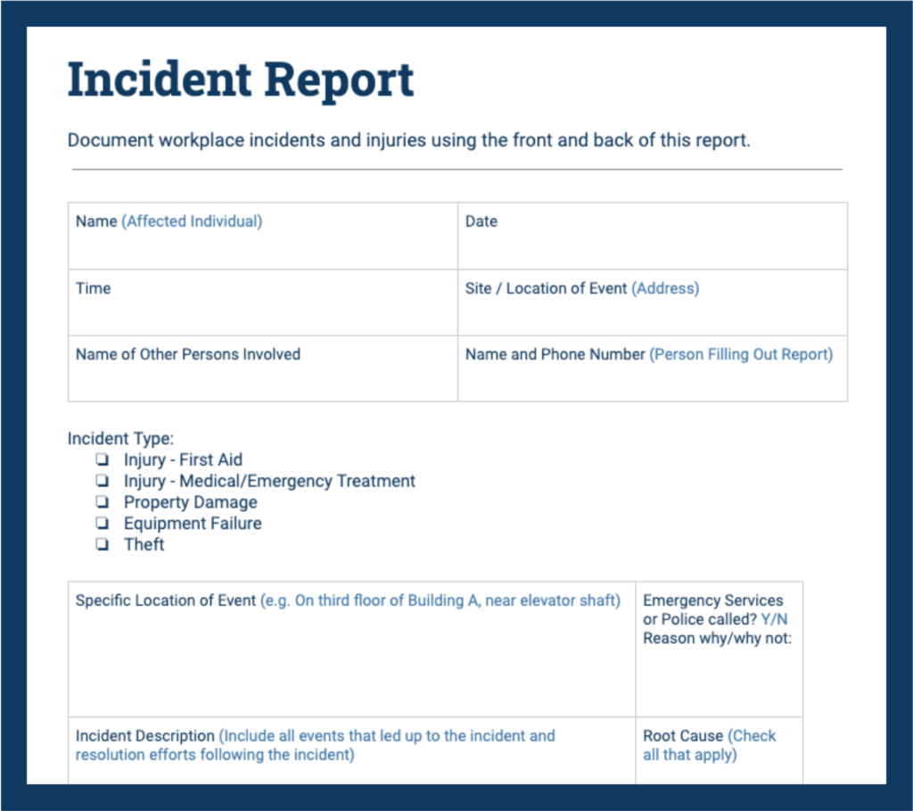 Incident Report Samples To Help You Describe Accidents