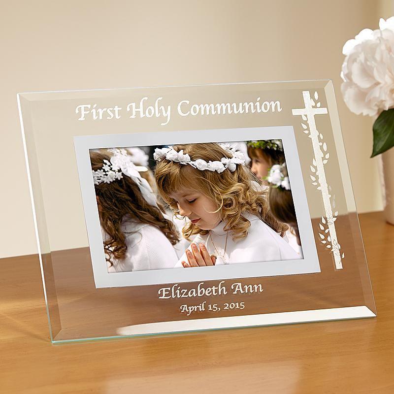Communion/Confirmation Glass Frame | First Communion | Pinterest ...