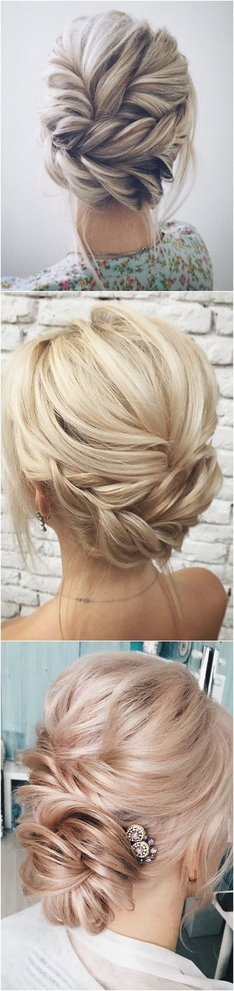 Twisted wedding updo hairstyle Hair style Pinterest Wedding