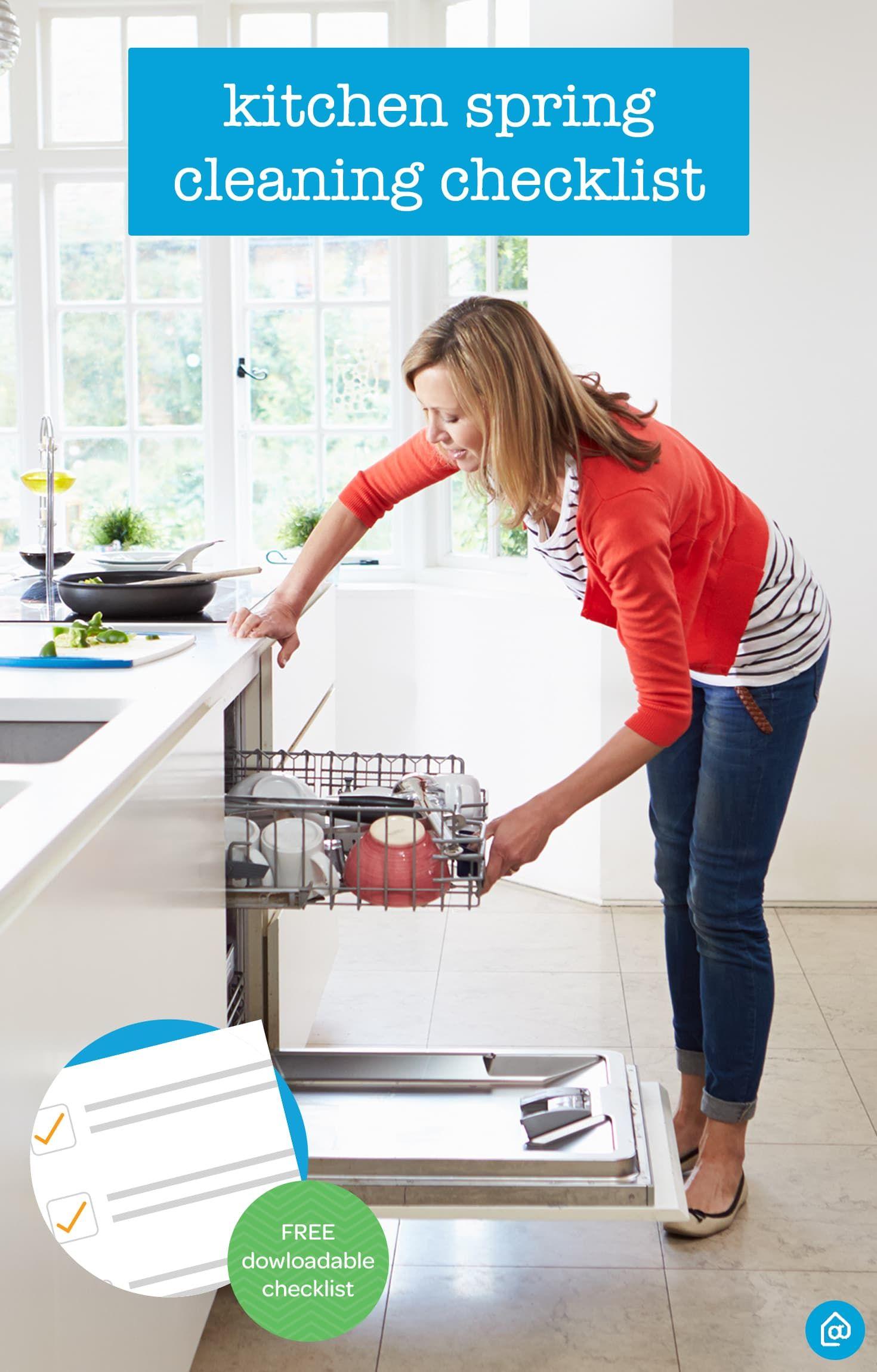 Lista de verificación para la limpieza de primavera de la cocina ...