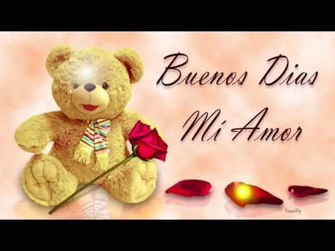 Buenos Dias Mi Amor Frases Bonitas Con Peluche Y Rosas Para Ti