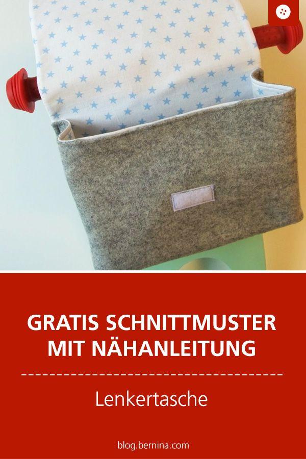 Lenkertasche nähen: kostenloses Schnittmuster und Anleitung #diytutorial