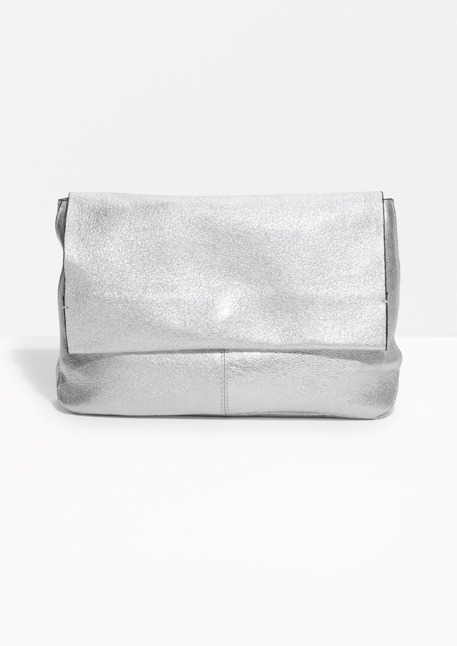 5989f5227bd0 & Other Stories | Soft Fold-Over Leather Clutch | Architect's ...