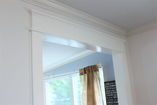 How To Add Trim To An Opening Without A Door For An Updated Sophisticated Look Interior Window Trim Wood Trim Home Design Diy