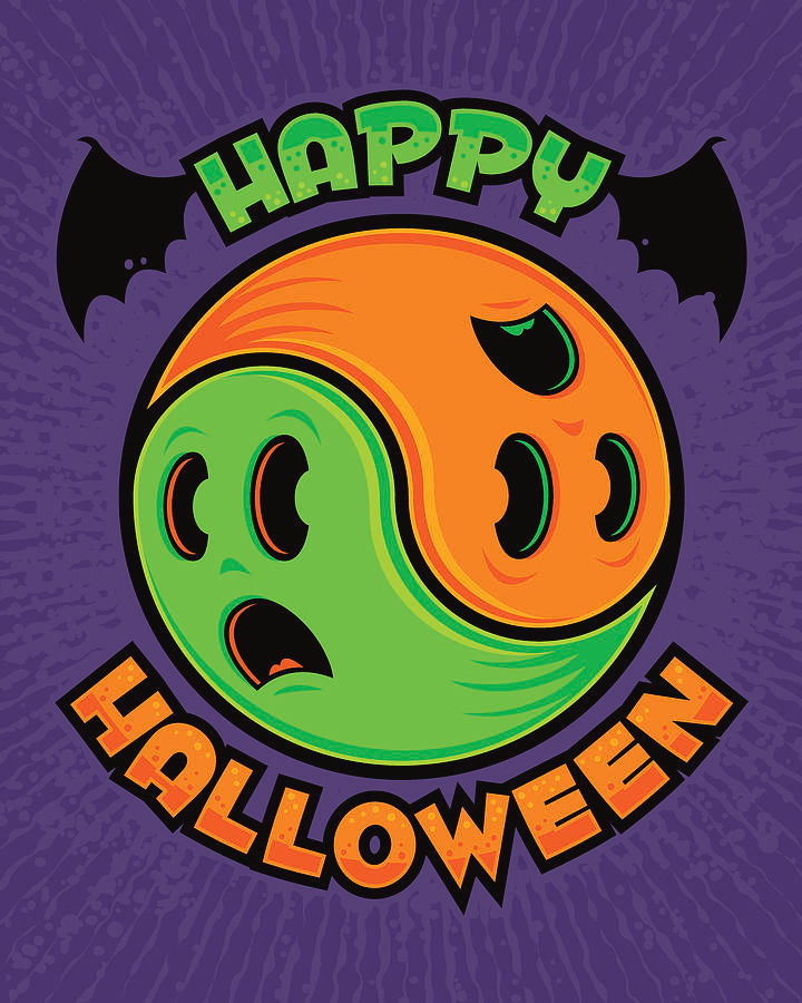 Happy Halloween Ghost Yinyang in 2020 Yin yang