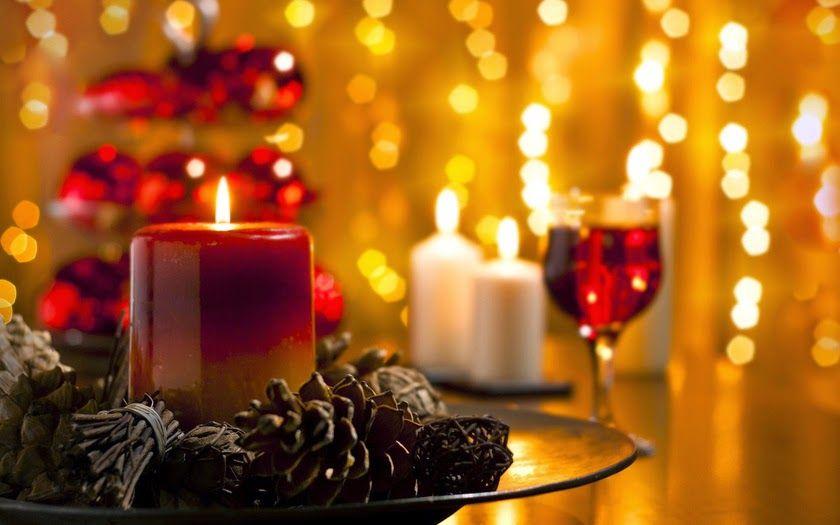 foto de velas navideñas
