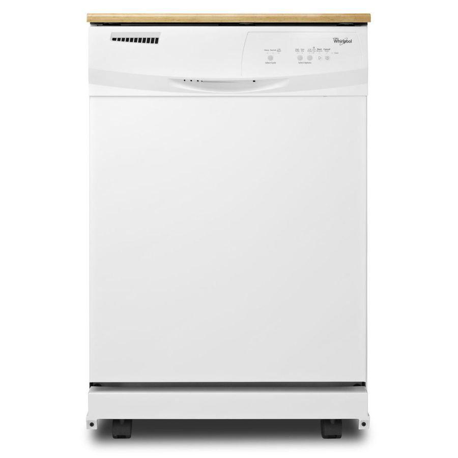 Whirlpool 24 125 In 55 Decibel Portable Dishwasher White Lowes Com Portable Dishwasher Dishwasher White Dishwasher