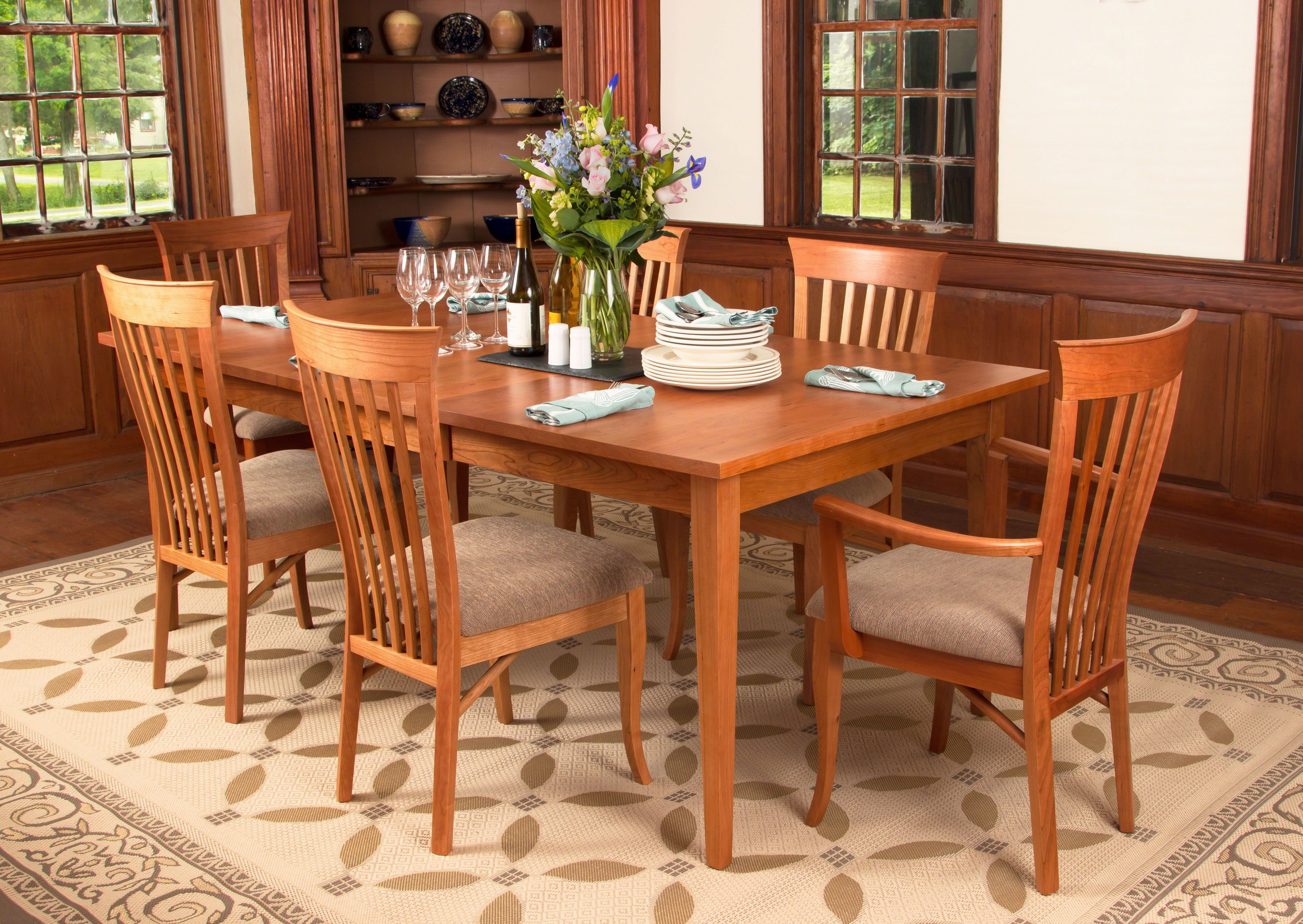 Our High End Handmade Classic Shaker Dining Table Features Clean Straight Lines And Smooth Dining Table Chairs Dining Table Design Modern Dining Table Legs
