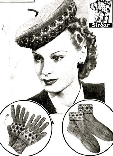 Vintage fair isle designs- vintage 1940s fair isle design