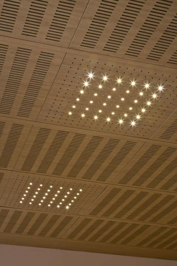 Acoustic Ceiling Panels Perforated Acoustic Tile For Suspended Ceiling Idealed Ideatec Kellerdecke Holzdecke Deckenpaneele