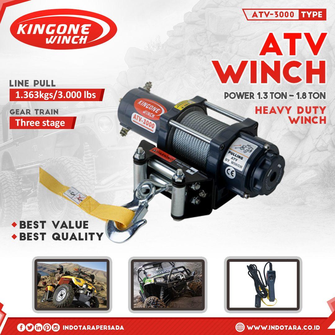 Kingone ATV Winch Kapasitas 1,3 Ton -1,8 Ton! #indotara