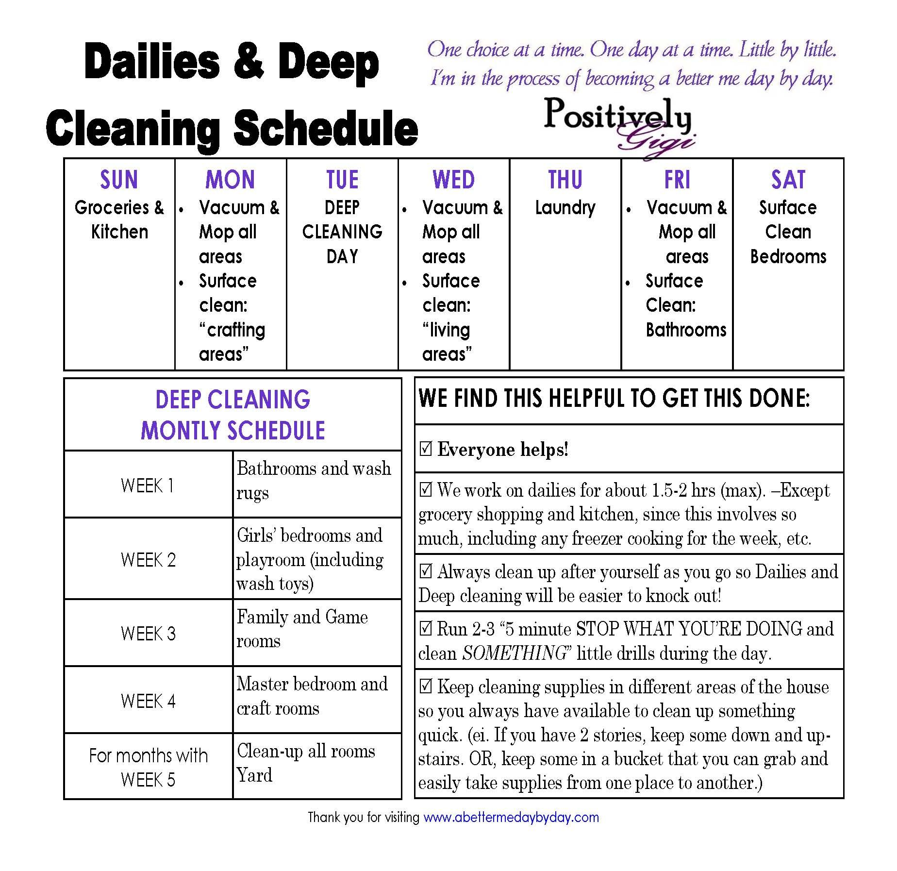 Housework Schedule  Google Search  Clean And Organize Everything