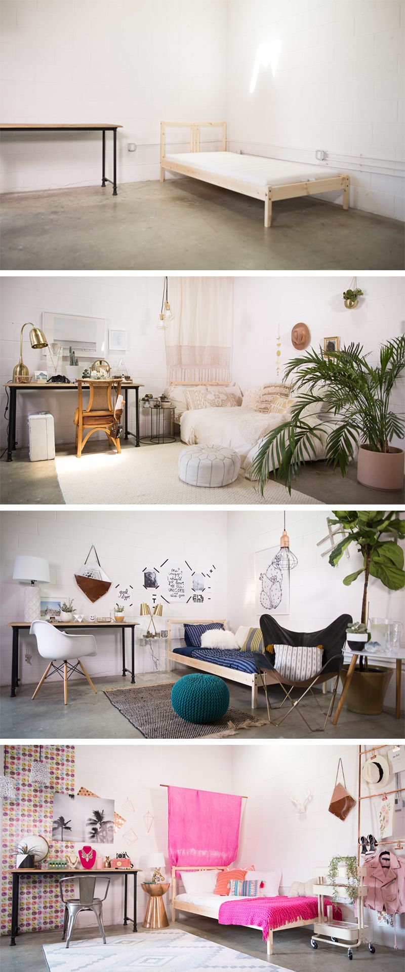 Dorm Room/Small Bedroom Decor, 3 Ways