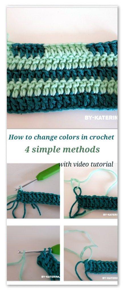 Tips & tricks:How to change colors in crochet   crochet   Pinterest ...