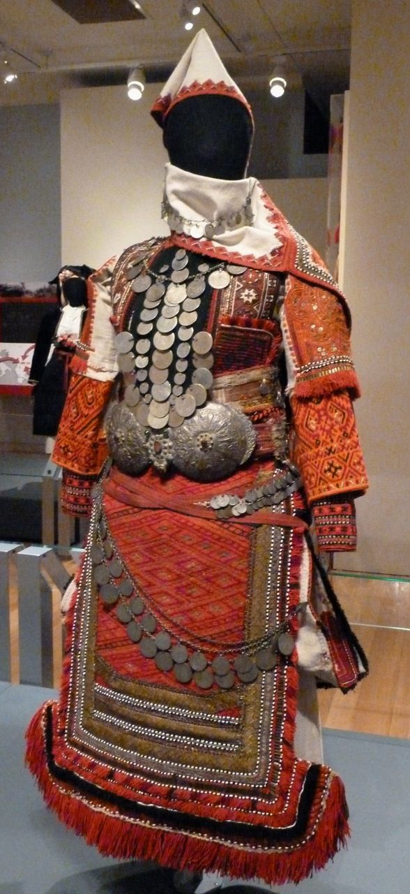 Macedonian wedding outfit.  Late-Ottoman era, early 20th century.  (Santa Fe: Folk Art Museum).