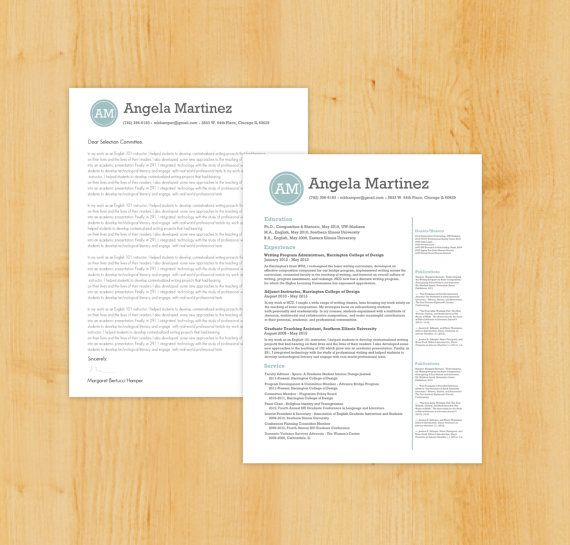 Resume \ Cover Letter Writing and Design Package Includes Resume - writing resume cover letter