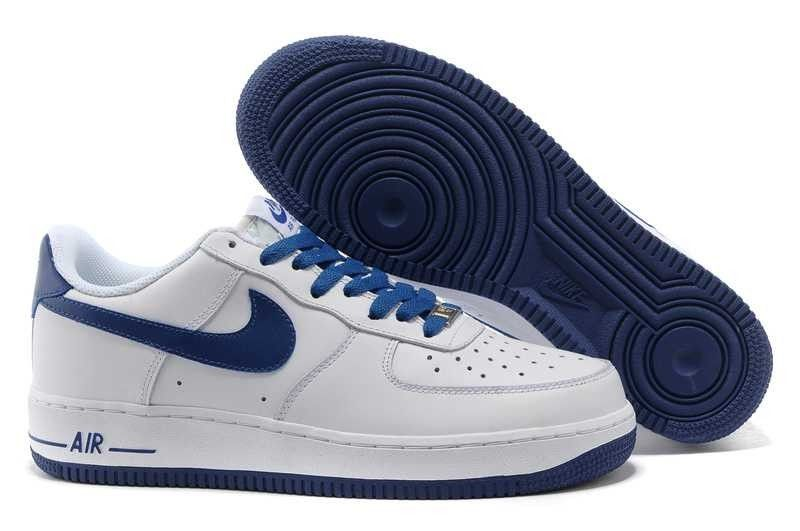 100% authentic 73165 0e681 VENTE DE SORTIE NIKE AIR FORCE 1 LOW HOMME BLANC BRIGHT BLEU