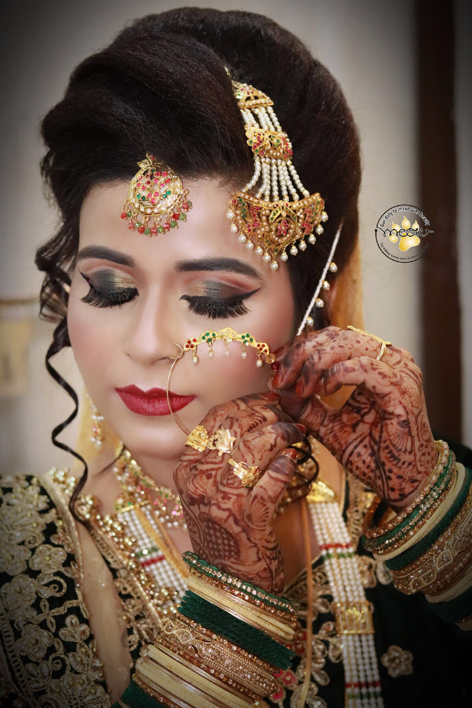 pin by meow makeup artistry on indian bride makeup shoot | pinterest