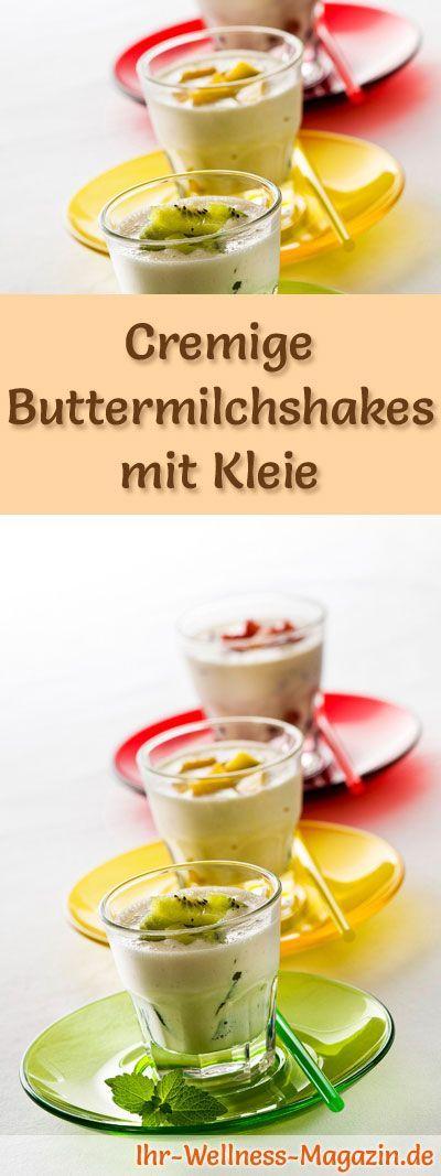 Rezept für Buttermilchshakes mit Kleie und viel Eiweiß - Abnehmen ohne zu hungern durch sättigende Rezepte mit Haferkleie und Weizenkleie ...