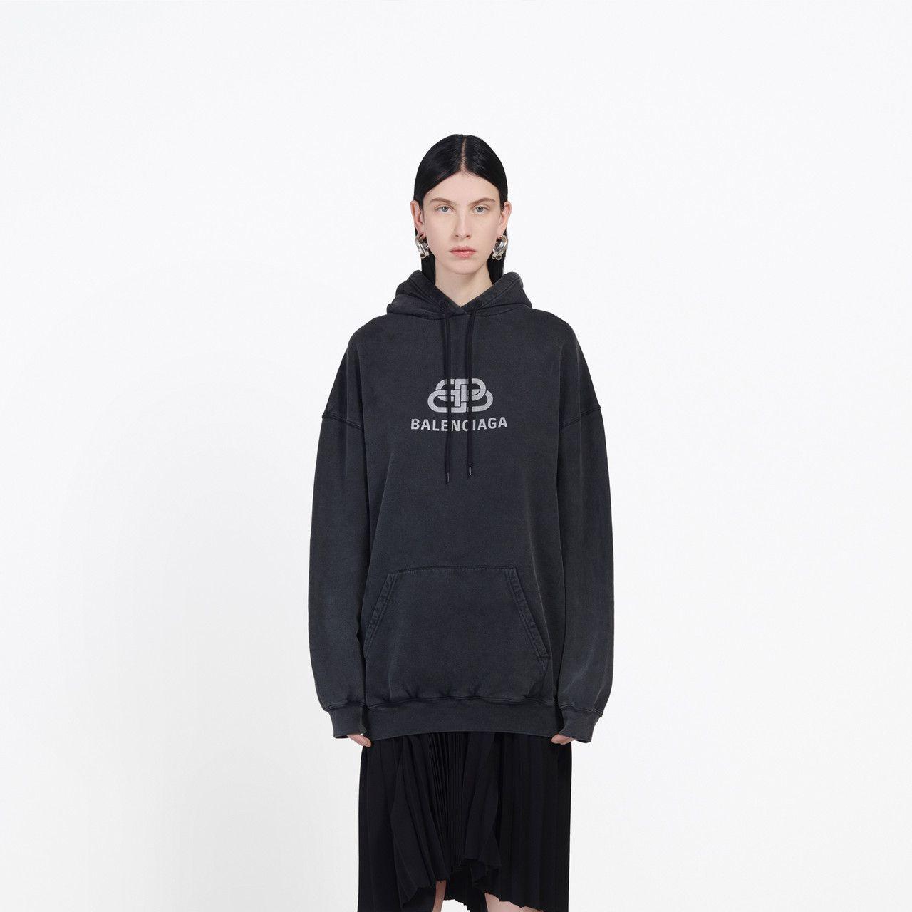 Bb Hoodie Anthracite For Women Balenciaga Sweatshirt Shirt Sweatshirts Balenciaga T Shirt [ 1280 x 1280 Pixel ]