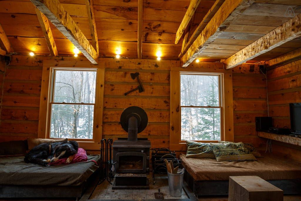 Off The Grid Log Cabin In 100 Acres Chalets For Rent In Labelle Log Cabin House In The Woods Vacation Home
