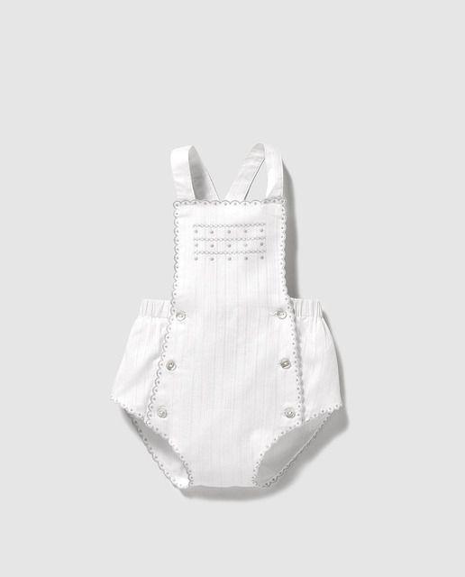 632885adc95b Peto de bebé niño Dulces blanco con bordados | fashion passion ...